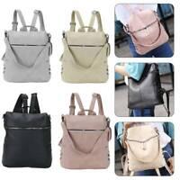 Women Leather Backpack Anti-Theft Rucksack School Travel Shoulder Bag Satchel