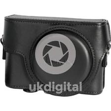 Panasonic DMW-PLS85XE-K Genuine Black Leather Case, Bag for Lumix LX15