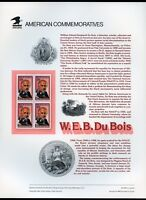 UNITED STATES W.E.B. DuBOIS COMMEMORATIVE PAGE MINT NEVER HINGED AS ISSUED