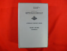 VINTAGE 1966 Australian Military Forces Manual STAFF DUTIES 768 Pages ORIGINAL
