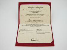 Cartier Love Certificate of Authenticity in Red Folder for Collection