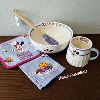 Disney 2020 EPCOT Food Wine Festival Minnie Queen of Cuisine Set Bowl, Mug,Towel