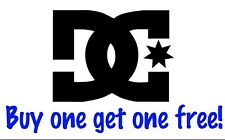 """TWO """"DC Shoes"""" Sticker Decals For Skateboards Subaru Laptops 80mm x 80mm  PM-15"""