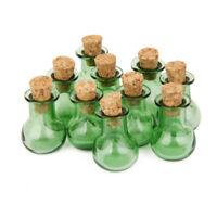 10 Petite Mini Base Plaine De Bouteilles De Verre En Corps Enrobage Jars
