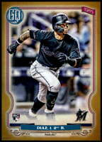Isan Diaz 2020 Topps Gypsy Queen 5x7 Gold #293 /10 Marlins