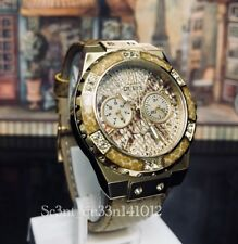 AUTHENTIC GUESS LADIES' LIMELIGHT WATCH GOLD W0775L13 Brand New