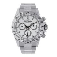 Rolex Daytona Stainless Steel 40mm White Dial Watch 116520