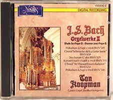 NOVALIS DIGITAL JS Bach KOOPMAN Orgelwerke II (CD, 1988, SWITZERLAND) 150 036-2