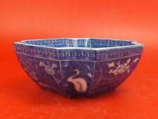 Superbe Coupe, Saladier en Porcelaine Blanc - Bleu de Chine, Japon. Signée