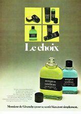 PUBLICITE ADVERTISING 017  1973  eau toilette after-shave Monsieur de Givenchy