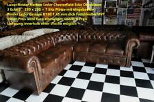 Chesterfield Eckgarnitur 280 x280 inklusive Bett Rinder Narben Leder