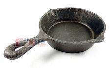 Medium Rustic Cast Iron Skillet Decorative Kitchenware Home Decor Cookware 8 in