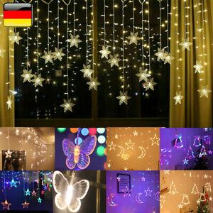 LED Lichterkette Fenster Vorhang Lichternetz Außen Beleuchtung Weihnachtsdeko