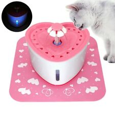 Pet Drinking Water Fountain Electric Cat Dog Automatic Bowl Filters Pump &Mat 2L