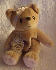 "Enesco Cherished Teddies Heart of Gold Bean Bag Plush Stuffed Animal Nwt 6"""