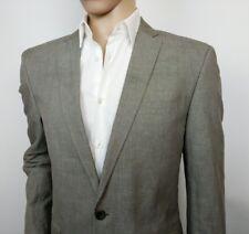Ted Baker London Mens Suit Jacket Grey Linen Size 5 UK M Chest 42 New RRP£319