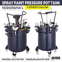 2.5/5/8/10 Gallon Spray Paint Pressure Pot Tank Mixing Agitator Spray Gun
