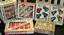 Vintage Christmas Ornament Lot Shiny Brite, Kurt Adler, W. German, Santa,  bells