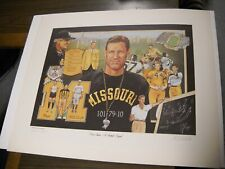 Don Faurot A Football Legend Missouri Signed Artist Proof Vintage Ted Watts