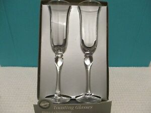 Pair of Wedding Toasting Flutes Champagne Wine Celebration by Wilton