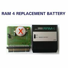 Yamaha RAM4 data cartridge Replacement battery DX7 II FD, D, S TX802 RX5 RX7 DX1