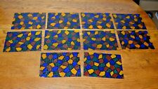 """Multi-Color Stained Glass Pieces Approx 7.5"""" x 5.5"""" Lot of 10"""