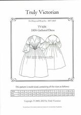 Sewing pattern for pre-civil 1856 Gathered Dress Truly Victorian pattern TV456