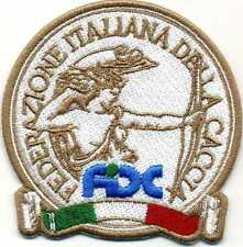 Toppa ricamata patch termoadesiva FIDC Federazione Italiana Della Caccia