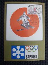 FRANCE MK 1972 OLYMPIA WINTER OLYMPICS MAXIMUMKARTE CARTE MAXIMUM CARD MC c1701