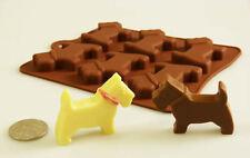 6 Celdas Terrier Escocés Perro Westie Bakeware del silicón Chocolate tratar Molde Cera Crayon Pet
