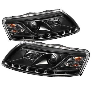 DRL LED Projector Headlights For 2005-2007 Audi A6 Quattro Spyder Auto 5029416