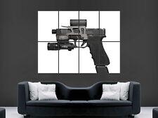 Glock 17 Gun Poster Weapon Semi Automatic Pistol Wall Art Print picture