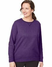 Just My Size V-Notch Crewneck Women's Sweatshirt Fleece ComfortSoft EcoSmart