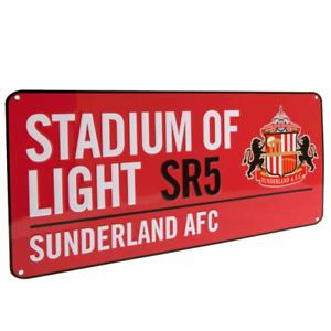 Sunderland AFC Stadium of Light SR5 Street Sign in Red