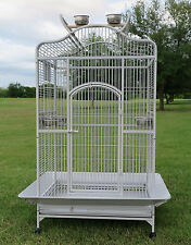 NEW Large Bird Parrot Open Play Dome Top Cage Cockatiel Macaw Conure Cage 258