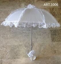 Ombrello  da sposa MATRIMONIO BIANCO con pizzo  wedding  feste..lunghezaa  70cm