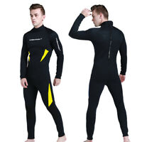 3mm Mens Full Wetsuit Surf Dive Swim Long Wet Suit Kayak Water Sports S-XXXL