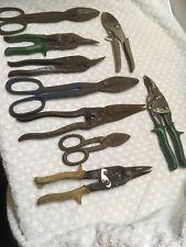 Vintage Lot (9) Tin Snips Sheet Metal Cutting Tools Wiss Popular Mechanic