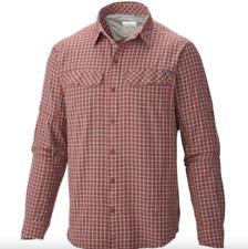 Columbia Men's Silver Ridge Plaid Long Sleeve Shirt size 4XT (Big Tall 4X) Flame