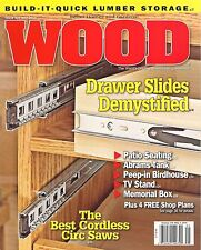 WOOD 239 May 2016 Build it Quick Lumber Storage Drawer Slides Patio Seating Plan