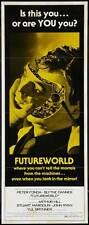 FUTUREWORLD Movie POSTER 14x36 Insert B Peter Fonda Blythe Danner Arthur Hill