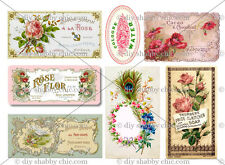 FRENCH FURNITURE DECAL SHABBY CHIC IMAGE TRANSFER STICKERS VINTAGE ROSE LABELS