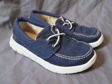 Toddler Boy's Ugg Treadlite Navy Blue Sherpa Loafers Slip On Shoes ~ Size 10