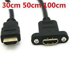 HDMI 2.0  Extension Cable Male to Female Gold Plated With Screw Panel Mount Ca