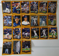 2002 Topps Series 1 & 2 San Diego Padres Team Set of 21 Baseball Cards