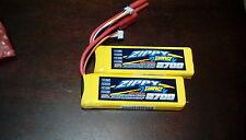 2 new Zippy Compact 2700mAh 3S 11.1V 25C 35C Lipo Battery Pack RC HXT 4mm USA