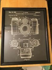 framed camera picture poster Black E. Sauer 1962 Glass Included Sheet 1 May 15th