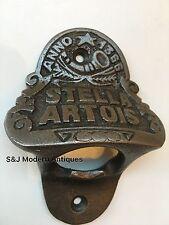 Stella Artois Bottle Cap Opener Wall Mounted Vintage Antique Iron Retro Engraved