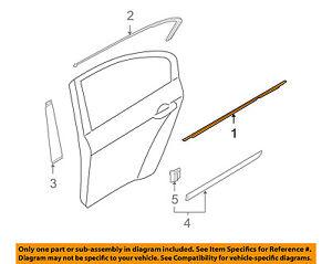 HYUNDAI OEM 09-12 Genesis Rear-Window Sweep Belt Felt Molding Right 832203M000