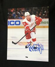 Daniel Alfredsson Signed Detroit Red Wings 11x14 Photo Ottawa Senators